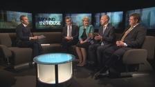 Paul Brand & guests: Minister James Wharton (Con), Julie Goodman MP (Lab), Calum Kerr MP (SNP) and MEP Mike Hookem (UKIP)