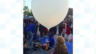 Children blast balloon into space!