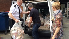 Food for the officers who were due to police the celebrations was donated to the homeless