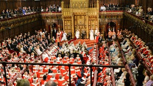 Peers in the House of Lords for the State opening of Parliament