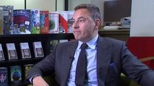 David Walliams spoke to ITV News correspondent Nina Nannar