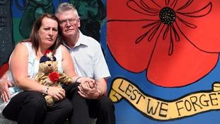 Lyn Rigby with Lee Rigby's stepdad Ian