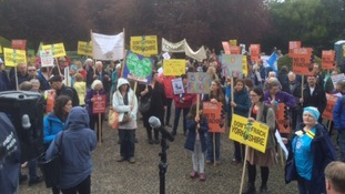 Hundreds gather in North Yorkshire fracking protest