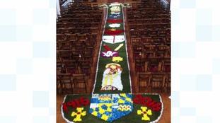 Barnsley church celebrates centenary with carpet of flowers