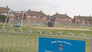 A park in Blyth where a dog attacked 11 children.