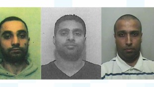 Yaqub (left), Wahid (centre) and Akhtar (right) have been jailed