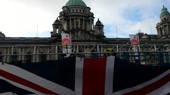The Union Flag is raised to celebrate the Ulster Covenant