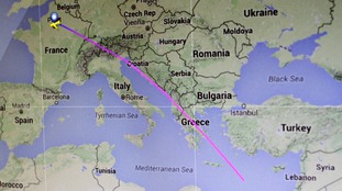 The plane disappeared over the Mediterranean, en route between Paris and Cairo