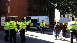 Police begin to gather ahead of EDL protest