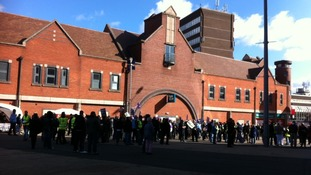 Counter protestors gather in Walsall