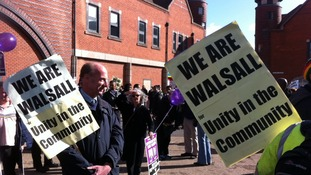 Peaceful protests take place against EDL demonstration in Walsall