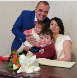 38-year-old Mariola Michalowski pictured here on her wedding day with her partner Krzysztof and their two children
