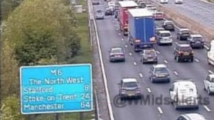 Man thrown from car in M6 crash