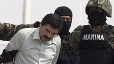 'El Chapo' was captured in January, six months after he absconded from prison