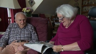 Reunited: An elderly couple forced apart because of a lack of carers