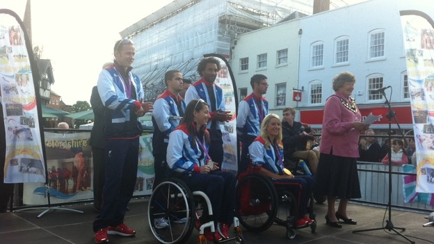 Hereford Paralympians take to the stage