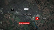 Two men dead and another critically injured in Luton crash