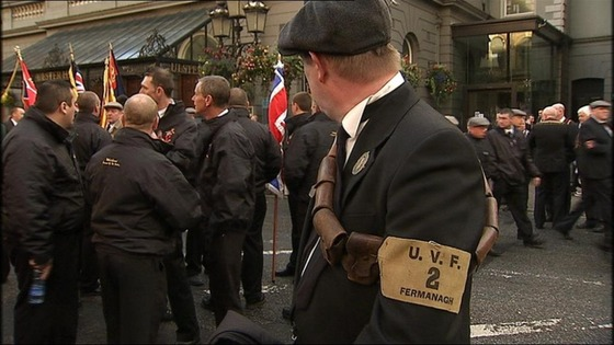 A man wearing a UVF uniform