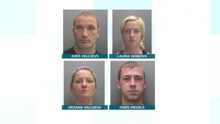 The four have been jailed for 23 years.