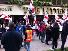 EDL Demonstrators are about to start their march.