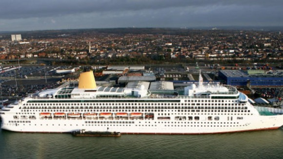 The Aurora moored in Southampton
