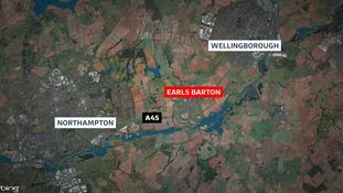 The hot air balloon crashed in Earls Barton.