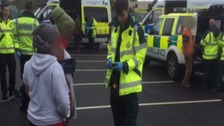 'Illegal immigrants' questioned after being found hiding in lorry