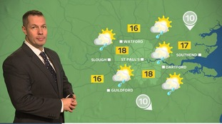 Sunny spells with the chance of showers and light wind.