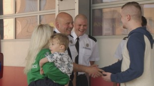 Family thank fire crews who saved their lives