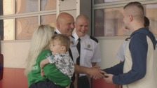 Family thank firefighters who saved their lives