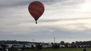 The balloon that crashed in Northamptonshire today.