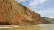 Safety fears after large landslide on Isle of Wight beach