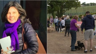 Friends of missing Hertfordshire author gather for emotional dog walk