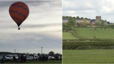 Woman in hospital after hot air balloon crashes in field
