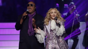 Stevie Wonder joined Madonna on stage to perform Purple Rain