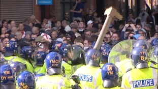 English Defence League Protest in Walsall