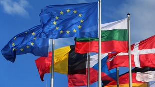 EU and international flags