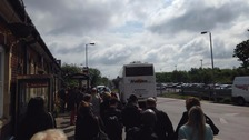Rail replacement buses at Colchester today.