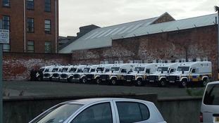 Police in Belfast.