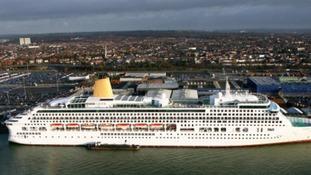 P&O's Aurora in Southampton