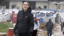 Angelina Jolie Pitt visits Syrian refugees in Lebanon in March of this year