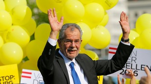 Alexander Van der Bellen of the Greens has beaten right-wing Norbert Hofer.
