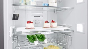 'Smart' fridge which shows the groceries you need whilst out shopping