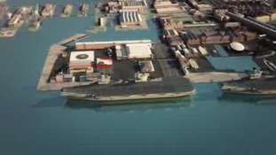 New home for aircraft carriers nears completion