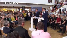 VIDEO: Cameron's stark message at B&Q- 'Don't vote for DIY recession'