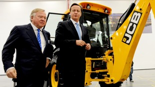 Sir Anthony Bamford and David Cameron