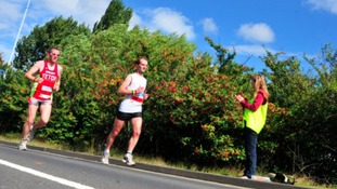 Runners in the Nottingham Half Marathon