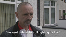 Paul Sharkey fought to save the life of his neighbour after he was stabbed.