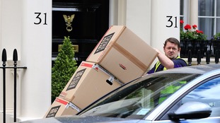 Removal men were spotted at Mourinho's London home.