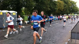 Runners of the half marathon in Nottingham